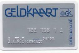 Geldkaart: de allereerste pinpas in Nederland