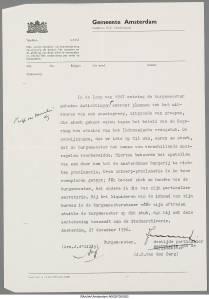 Notitie d'Áilly over mogelijke staatsgreep en proclamatie ; bron: stadsarchief Amsterdam